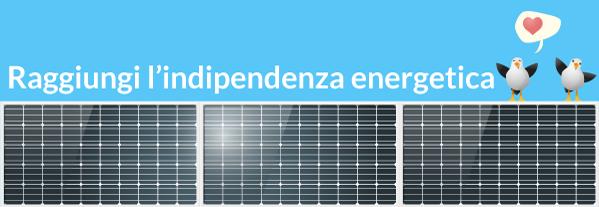 raggiungi l'indipendenza energetica