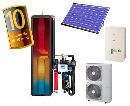 fotovoltaico con pompa di calore per un maggior risparmio energetico