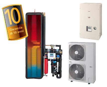 soluzione per un maggior risparmio energetico grazie alla pompa di calore