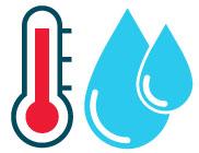 acqua a temperatura tra i 45 e i 60gradi